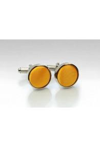 Manschettenknöpfe Stoff orangegelb