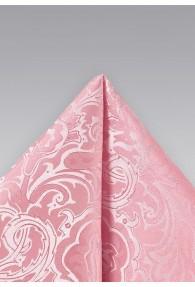 Einstecktuch zartrosa florales Motiv