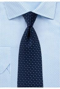 Businesskrawatte Punkt-Muster marineblau