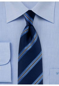 Businesskrawatte Streifendesign marineblau