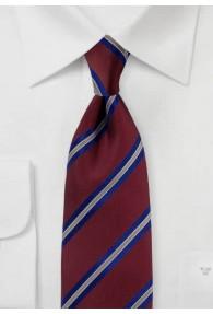 Krawatte Streifenmuster bordeaux