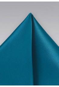 Stylisches Einstecktuch unifarben türkisblau