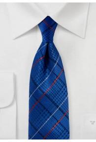 Krawatte Schottenkaro königsblau