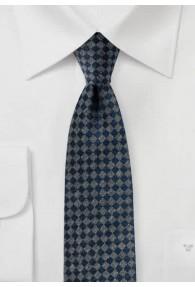 Modische Krawatte marineblau grau matt