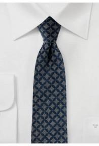 Stylische Krawatte graublau grau matt