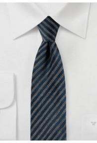 Stylische Krawatte silber marineblau matt