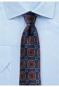 Krawatte Viereck-Ornamenturen blau