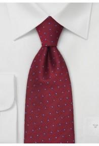 XXL-Krawatte bordeaux blau