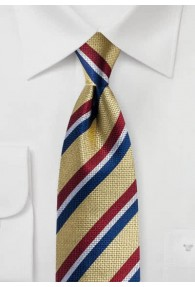 Krawatte Streifenmuster gelb