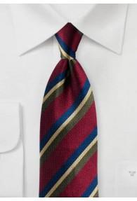 Krawatte Streifendessin bordeaux