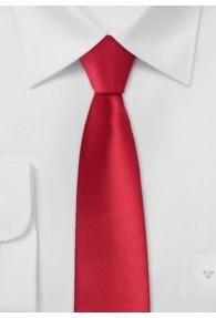 Schmale Krawatte feuerrot
