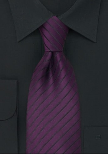 Violette XXL-Krawatte