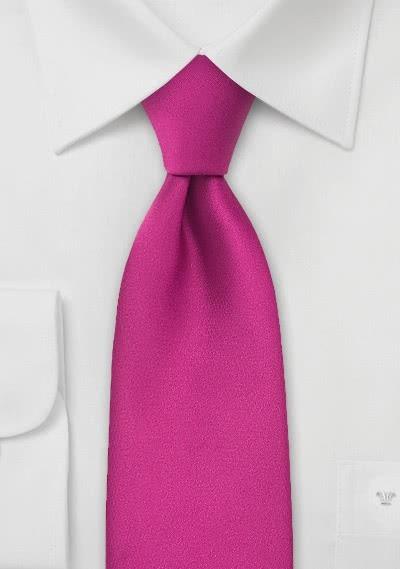 XXL-Krawatte magenta-rot einfarbig