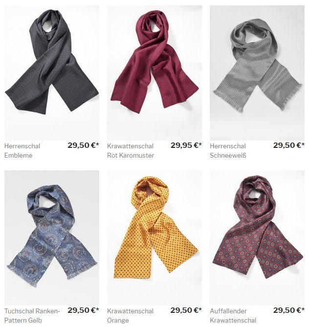 Sortiment an Krawattenschals