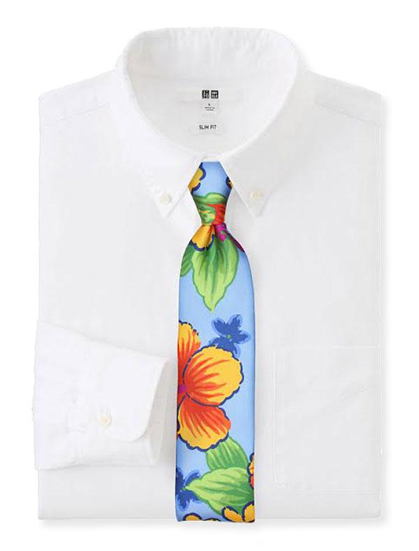 Krawatte mit großem Motiv