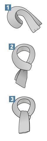 Binden eines Krawattenschals